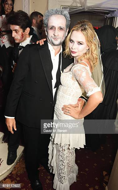 Matt Hermer and Marissa Hermer attend Halloween at Annabel's at 46 Berkeley Square on October 29 2016 in London England