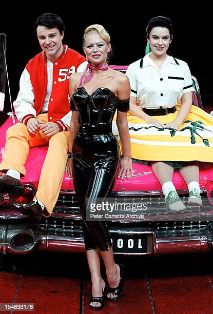 Matt Hetherington Jo Beth Taylor and Pippa Grandison during rehearsals for the stage production of 'Happy Days The Arena Mega Musical' at the Sydney...