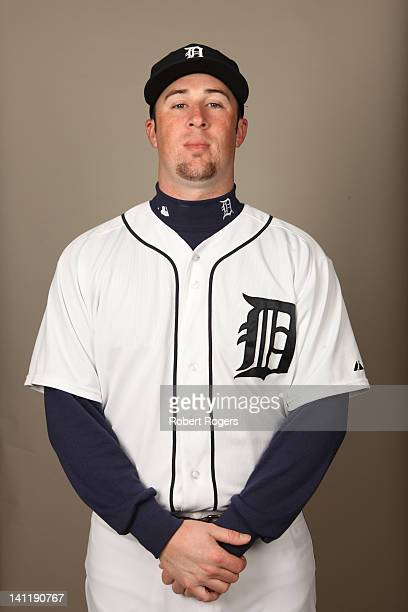 Matt Hoffman of the Detroit Tigers poses during Photo Day on Tuesday February 28 2012 at Joker Marchant Stadium in Lakeland Florida