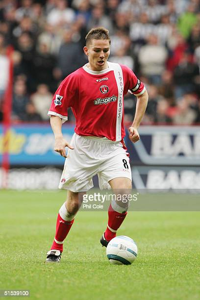 Matt Holland of Charlton Athletic in action during the Barclays Premiership match between Charlton Athletic and Newcastle United at The Valley on...