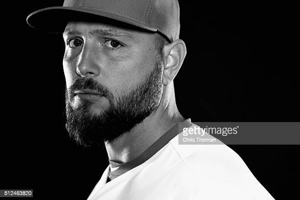 Matt Holliday of the St Louis Cardinals poses for a photograph at Spring Training photo day at Roger Dean Stadium on February 25 2016 in Jupiter...