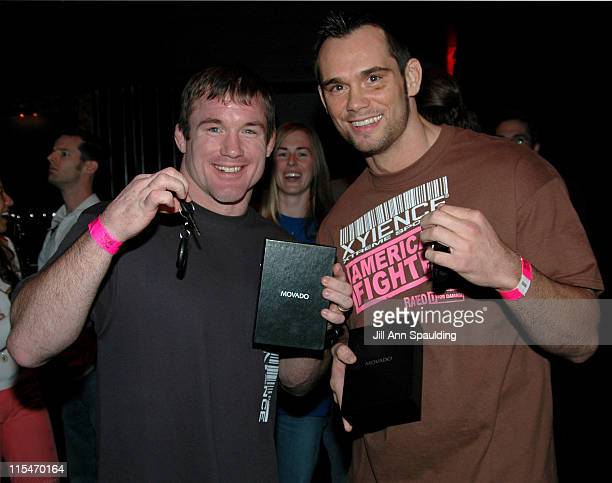 Matt Hughes and Rich Franklin during The Ultimate Fighter WeighIn November 4 2005 at Hard Rock Hotel in Las Vegas Nevada United States