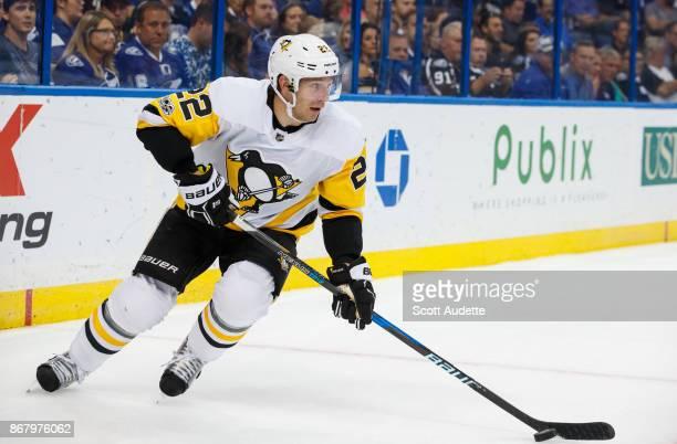 Matt Hunwick of the Pittsburgh Penguins skates against the Tampa Bay Lightning at Amalie Arena on October 12 2017 in Tampa Florida 'n