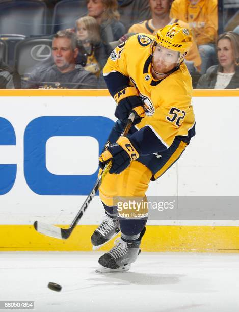 Matt Irwin of the Nashville Predators skates against the Montreal Canadiens during an NHL game at Bridgestone Arena on November 22 2017 in Nashville...