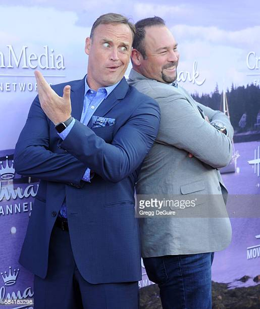 Matt Iseman and Matt Rogers arrive at the Hallmark Channel and Hallmark Movies and Mysteries Summer 2016 TCA Press Tour Event on July 27 2016 in...