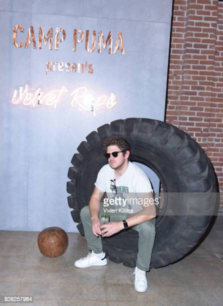 Matt James attends PUMA Hosts CAMP PUMA To Launch Their Newest Women's Collection Velvet Rope at Goya Studios on August 3 2017 in Los Angeles...