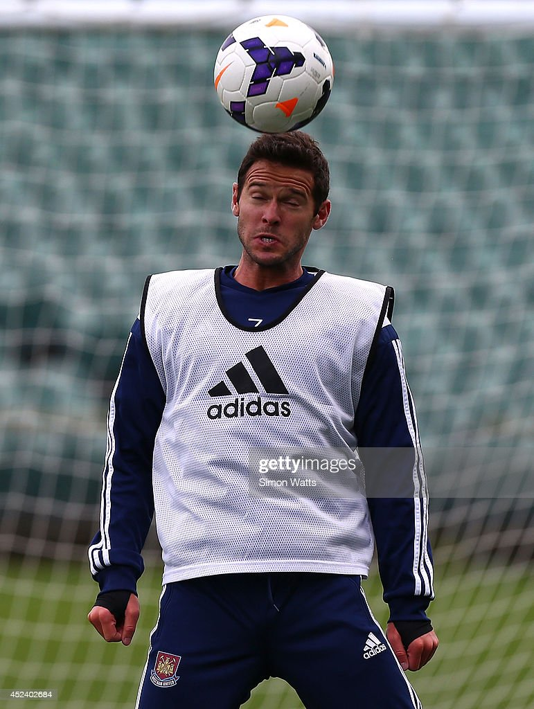 Matt Jarvis during a West Ham United training session at North Harbour Stadium on July 20, 2014 in Auckland, New Zealand.