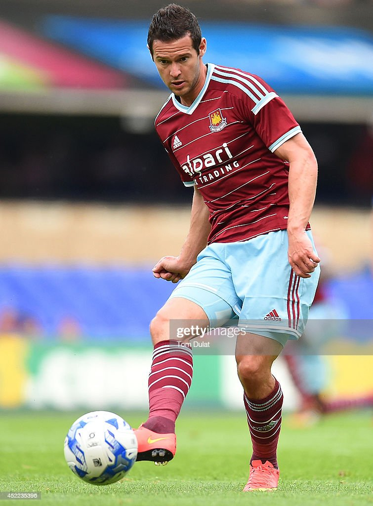 Matt Jarvis of West Ham United in action during the pre-season friendly match between Ipswich Town and West Ham United at Portman Road on July 16, 2014 in Ipswich, England.