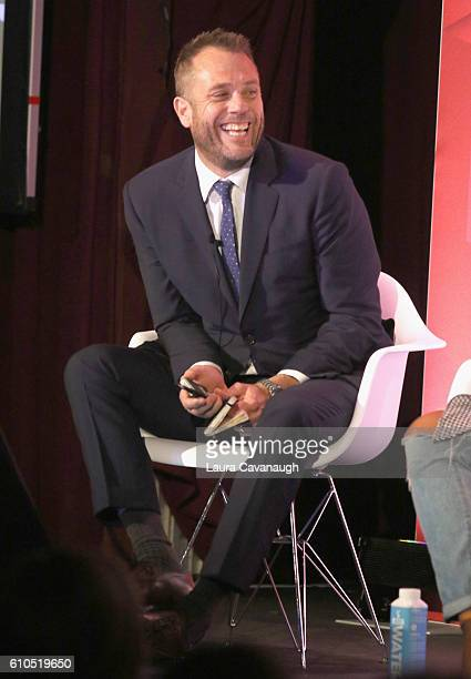 Matt Jarvis speaks onstage during the It's Not About You A Discussion About Authenticity in Influencer Marketing panel in BB King at 2016 Advertising...