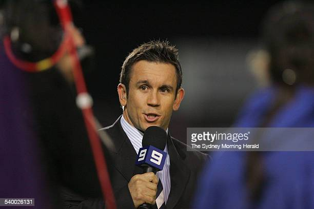 Matt Johns commentates during the NRL Round 14 rugby league match between the Manly Sea Eagles and Wests Tigers at Brookvale Oval 9 June 2006 SMH...