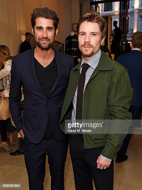 Matt Johnson and Joe Dempsie attend the Burberry LCM event at 121 Regent Street hosted by Christopher Bailey Burberry Chief Creative and Chief...