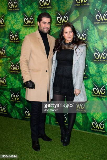 Matt Johnson and Kat Shoob arriving at the Cirque du Soleil OVO premiere at Royal Albert Hall on January 10 2018 in London England