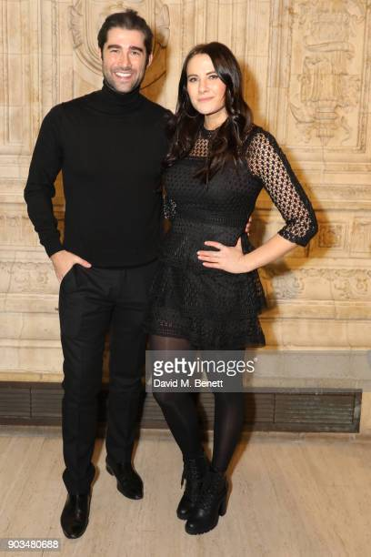 Matt Johnson and Kat Shoob attend the Opening Night performance of 'Cirque Du Soleil OVO' at the Royal Albert Hall on January 10 2018 in London...