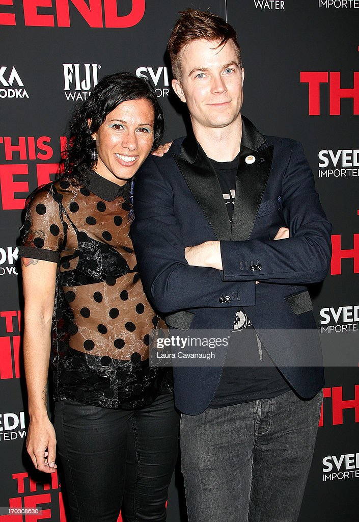 Matt Johnson and Kim Schifino attend 'This Is The End' New York Premiere at Sunshine Landmark on June 10, 2013 in New York City.