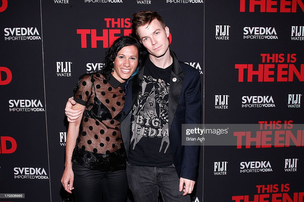 Matt Johnson and Kim Schifino of Matt and Kim attend a special New York screening of Columbia Pictures' 'This Is The End' presented by FIJI water on June 10, 2013 in New York City.