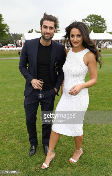 Matt Johnson and Roxie Nafousi attend the Audi Polo Challenge at Coworth Park on May 6 2017 in Ascot United Kingdom