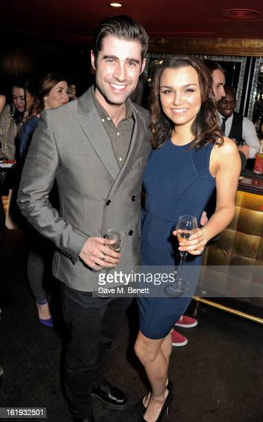 Matt Johnson and Samantha Barks attend the Whistles Limited Edition Autumn/Winter 2013 Collection party at The Arts Club on February 17 2013 in...