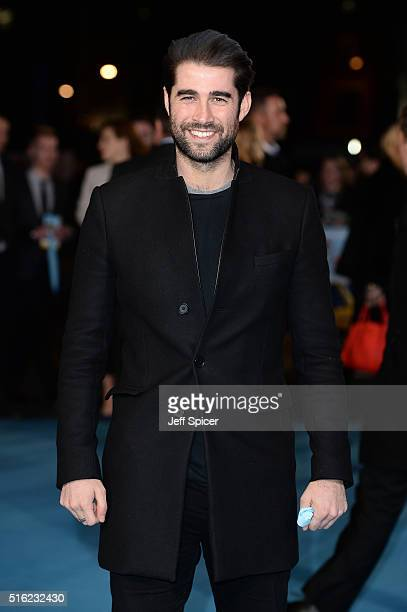 Matt Johnson arrives for the European premiere of 'Eddie The Eagle' at Odeon Leicester Square on March 17 2016 in London England