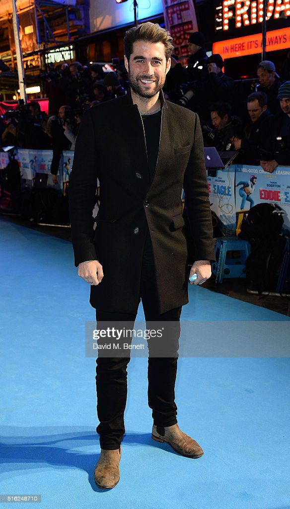 Matt Johnson attends the European Premiere of 'Eddie The Eagle' at Odeon Leicester Square on March 17, 2016 in London, England.