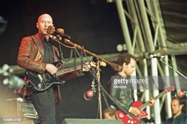 Matt Johnson lead vocalist with The The, performing on stage at Glastonbury, 23rd June 2000.