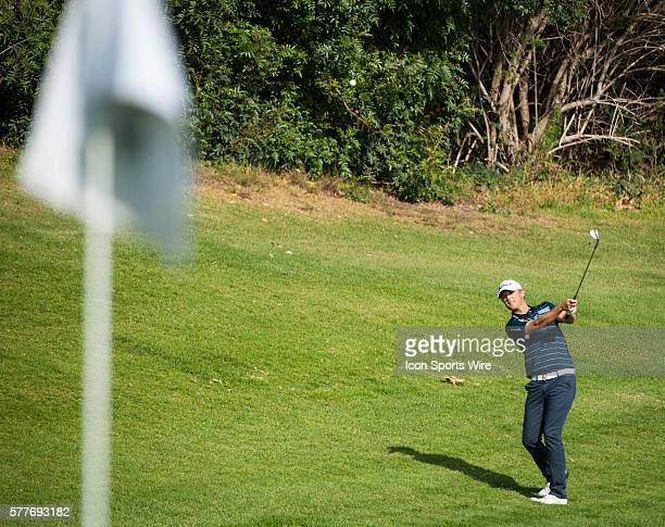 Matt Jones competes in the Northern Trust Open golf tournament held at the Riviera Country Club in Pacific Palisades.