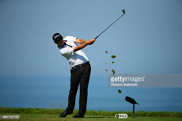 Matt Jones of Australia hits his tee shot on the third hole during the third round of the 2015 PGA Championship at Whistling Straits on August 15,...