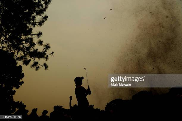 Matt Jones of Australia plays out of the rough on the 17th hole during day three of the 2019 Australian Open at The Australian Golf Club on December...