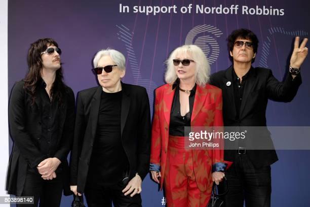 Matt KatzBohen guitarist Chris Stein singer Debbie Harry and Clem Burke of Blondie attend Nordoff Robbins O2 Silver Clef awards at The Grosvenor...