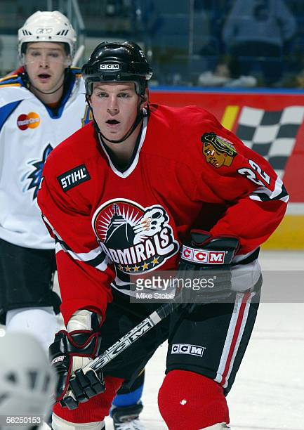 Matt Keith of the Norfolk Admirals skates during the game with the Bridgeport Sound Tigers November 2, 2005 in Bridgeport, Connecticut. The Admirals...
