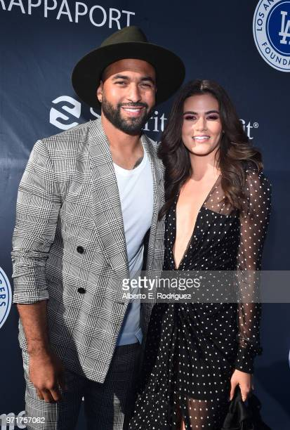 Matt Kemp and guest attend the Fourth Annual Los Angeles Dodgers Foundation Blue Diamond Gala at Dodger Stadium on June 11 2018 in Los Angeles...