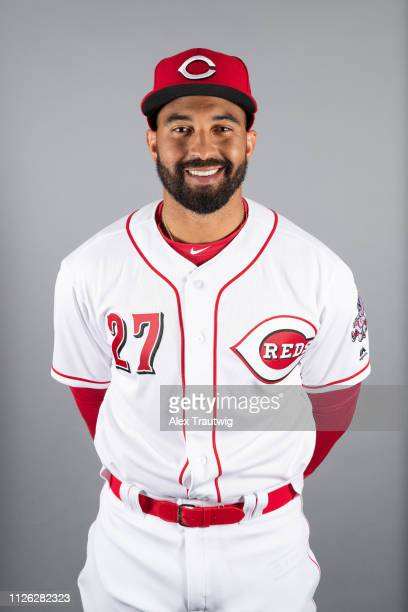 Matt Kemp of the Cincinnati Reds poses during Photo Day on Tuesday February 19 2019 at Goodyear Ballpark in Goodyear Arizona