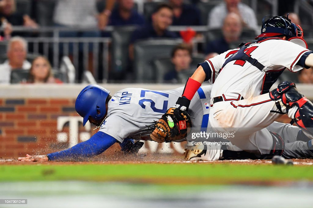 Divisional Round - Los Angeles Dodgers v Atlanta Braves - Game Three : News Photo
