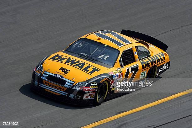 Matt Kenseth, driver of the DeWalt Ford, during practice for the Daytona 500 at Daytona International Speedway on February 10, 2007 in Daytona,...