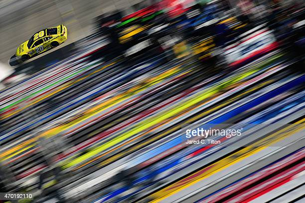 Matt Kenseth driver of the Dollar General Toyota practices for the NASCAR Sprint Cup Series Food City 500 at Bristol Motor Speedway on April 18 2015...