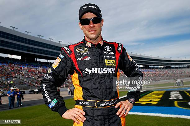 """Matt Kenseth, driver of the Home Depot """"Let's Do This"""" Toyota, poses for a portrait before the NASCAR Sprint Cup Series AAA Texas 500 at Texas Motor..."""