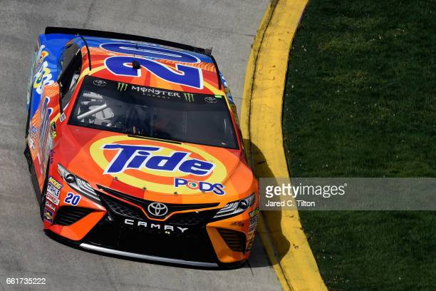 Matt Kenseth driver of the Tide Pods Toyota practices for the Monster Energy NASCAR Cup Series STP 500 at Martinsville Speedway on March 31 2017 in...
