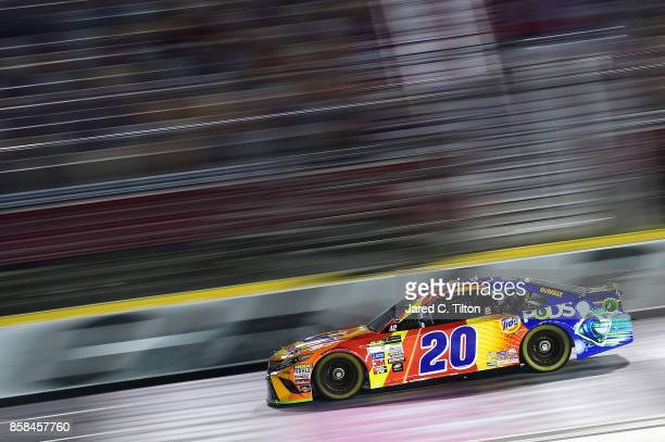 Matt Kenseth driver of the Tide Pods Toyota qualifies for the Monster Energy NASCAR Cup Series Bank of America 500 at Charlotte Motor Speedway on...