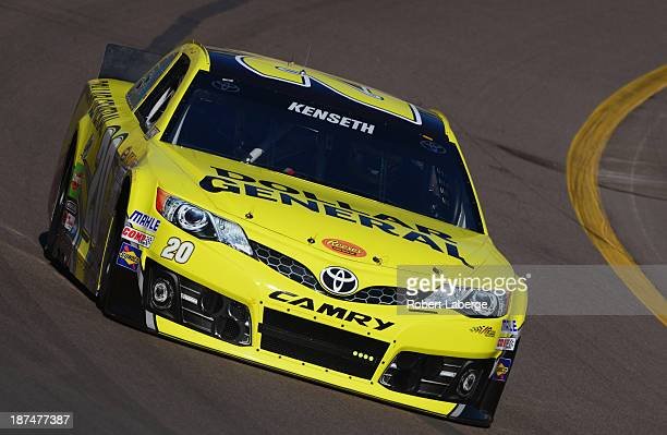 Matt Kenseth drives the Dollar General Toyota during practice for the NASCAR Sprint Cup Series AdvoCare 500 at Phoenix International Raceway on...