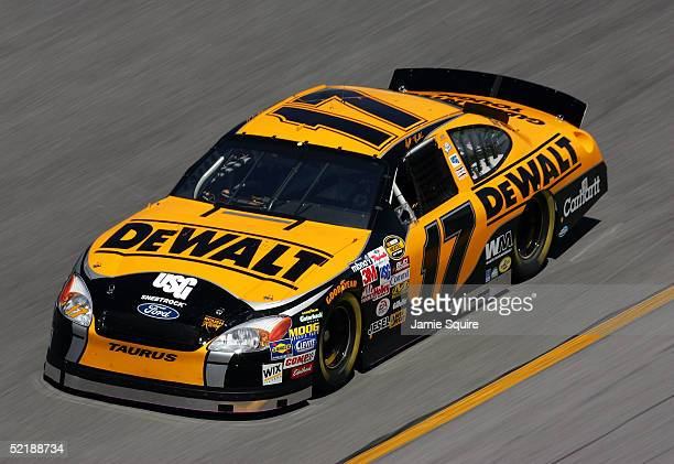 Matt Kenseth drives the Roush Racing Ford during practice for the NASCAR Nextel Cup Daytona 500 on February 12 2005 at the Daytona International...