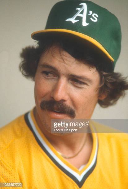 Matt Keough of the Oakland Athletics looks on from the dugout prior to the start of an Major League Baseball game circa 1981 Keough played for the...