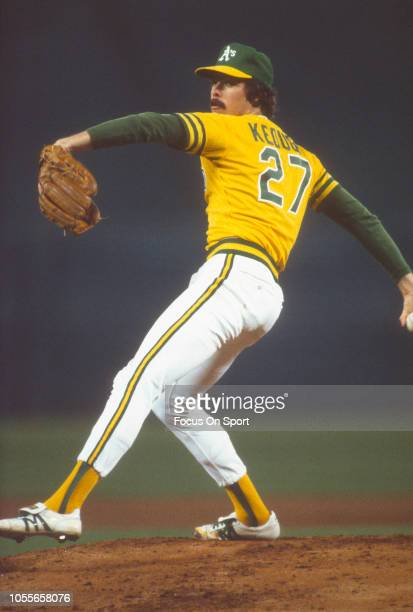 Matt Keough of the Oakland Athletics pitches during an Major League Baseball game circa 1981 Keough played for the Athletics from 197783
