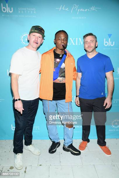 Matt Kessle Daye Jack and Nick Larkins attend the Maxim December Miami Issue Party Presented by blu on December 8 2017 in Miami Beach Florida