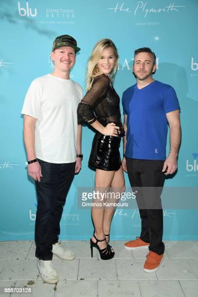Matt Kessle Joy Corrigan and Nick Larkins attend the Maxim December Miami Issue Party Presented by blu on December 8 2017 in Miami Beach Florida