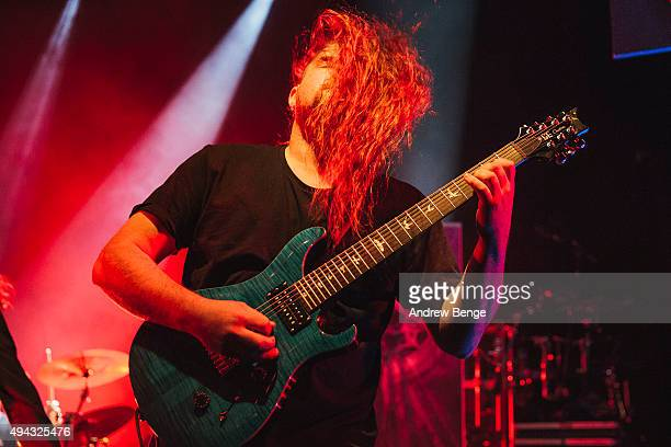 Matt Klavins of Ne Obliviscaris performs on stage at KOKO on October 23 2015 in London England