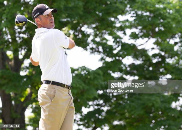 Matt Kuchar during the third round of the Memorial Tournament at Muirfield Village Golf Club in Dublin Ohio on June 02 2018