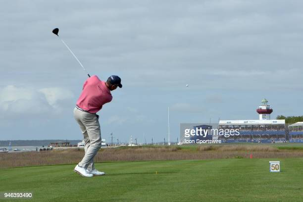 Matt Kuchar during the third round of the RBC Heritage on April 14 at Harbour Town Golf Links in Hilton Head Island SC