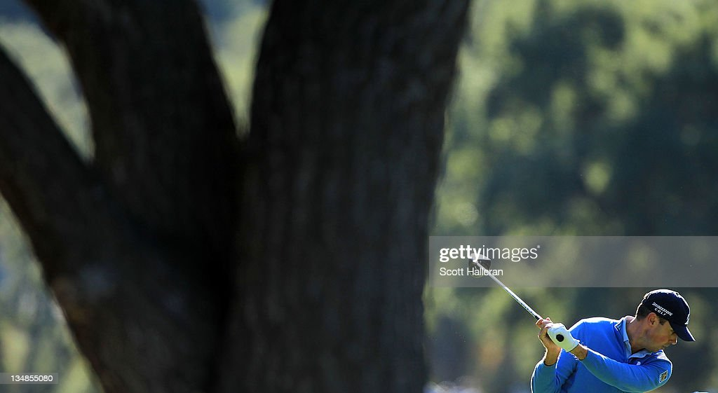 Matt Kuchar hits a shot during the third round of the Chevron World Challenge at Sherwood Country Club on December 3, 2011 in Thousand Oaks, California.