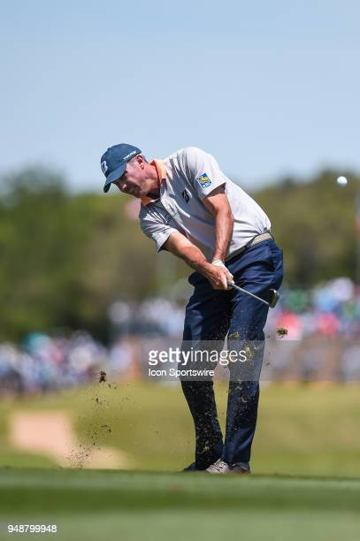 Matt Kuchar hits a shot from the fairway during the first round of the Valero Texas Open at the TPC San Antonio Oaks Course in San Antonio TX on...