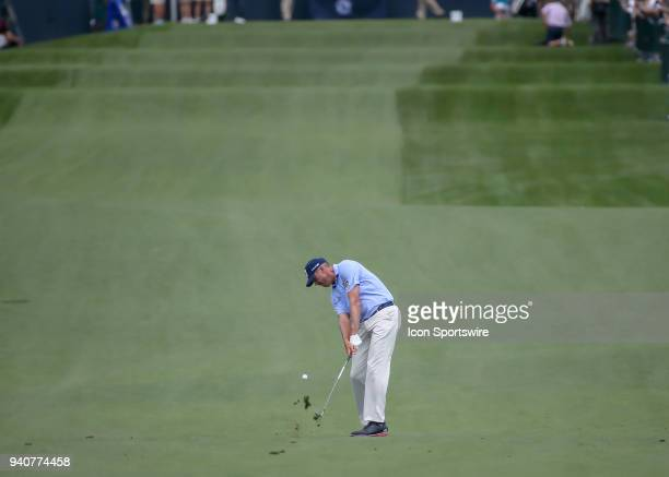Matt Kuchar hits his approach shot on 2 during the final round of the Houston Open on April 1 2018 at the Golf Club of Houston in Humble Texas