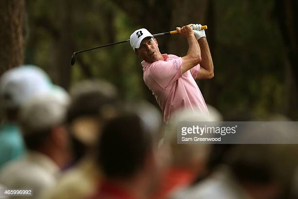 Matt Kuchar hits off the 11th tee during the first round of the Valspar Championship at Innisbrook Resort Copperhead Course on March 12 2015 in Palm...